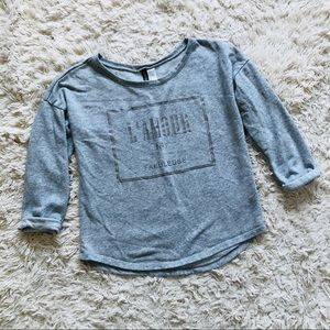 H&M • L'amour Sweatshirt • Grey